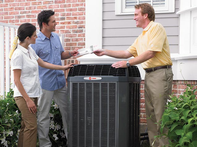Trane Technician with couple
